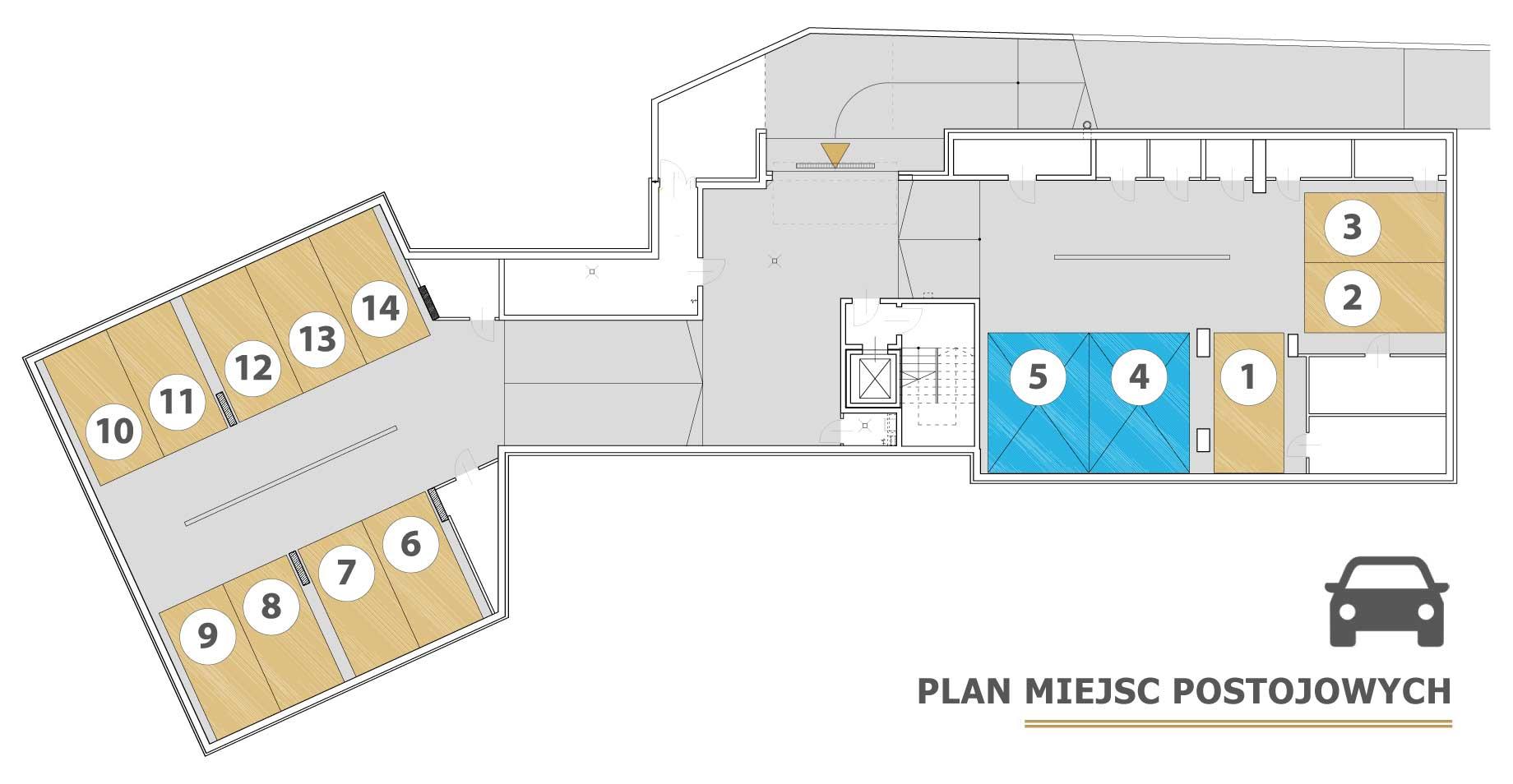 Plan piwnic i miejsc parkingowych - Olqus Gdynia