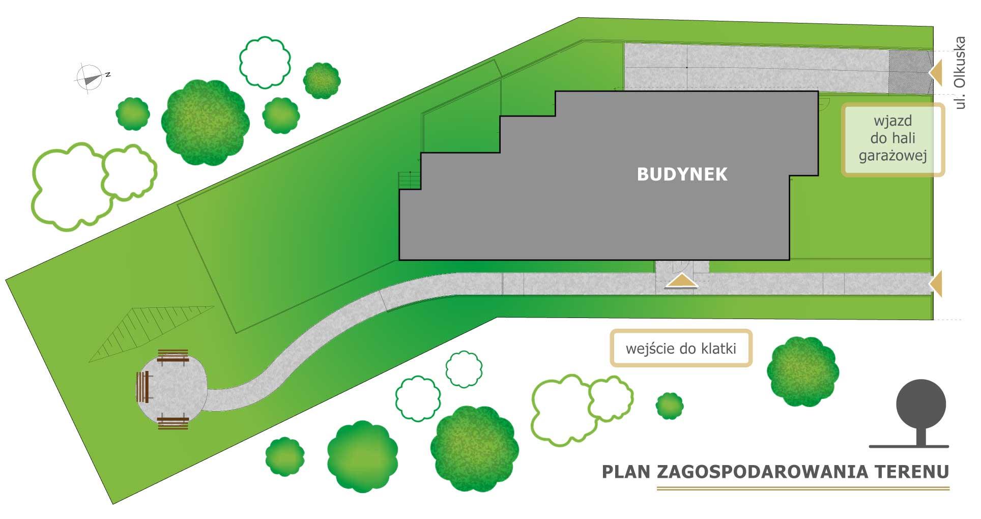 Plan terenu Olqus Gdynia